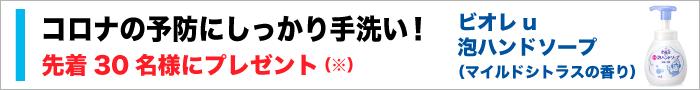 ご登録の特典:ビオレu泡ハンドソープ